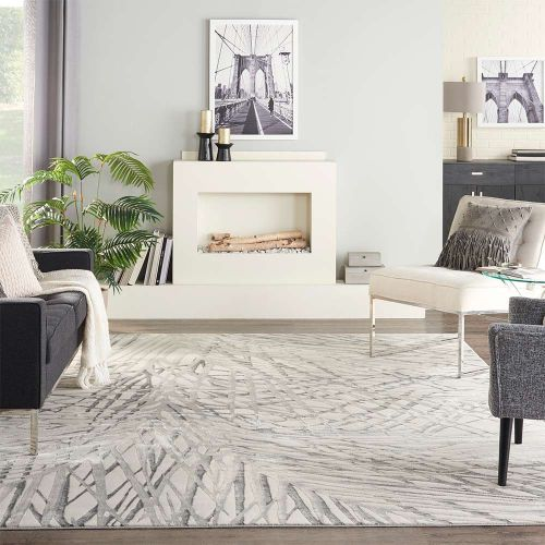 Rustic Textures Ivory Grey RUS17 Rug