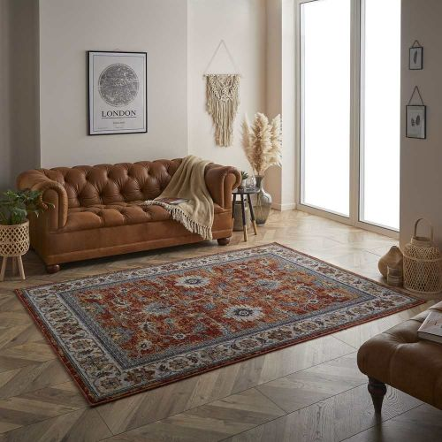 Sarouk Traditional Red Rug 53R