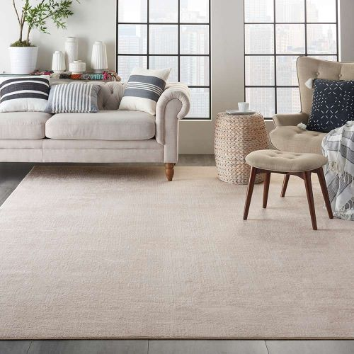 Abstract Silky Textures SLY01 Ivory Grey Rug