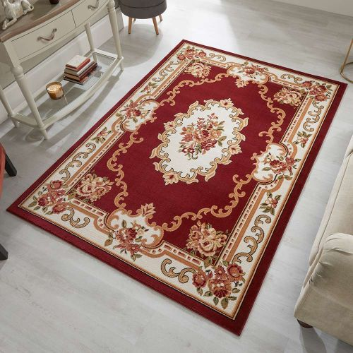 Sincerity Royale Dynasty Traditional Rug Red