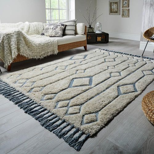 Solitaire Sion Rug Natural Duck Egg