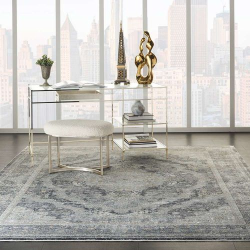 Starry Nights STN05 Charcoal Cream Rug
