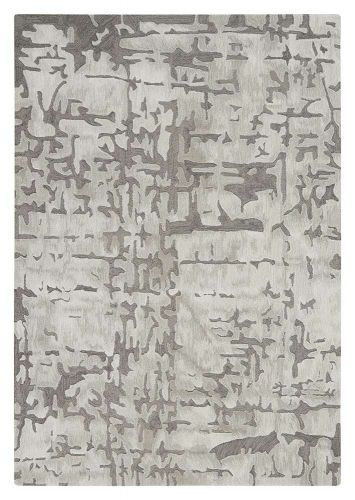 Abstract Symmetry SMM03 Ivory Taupe Rug
