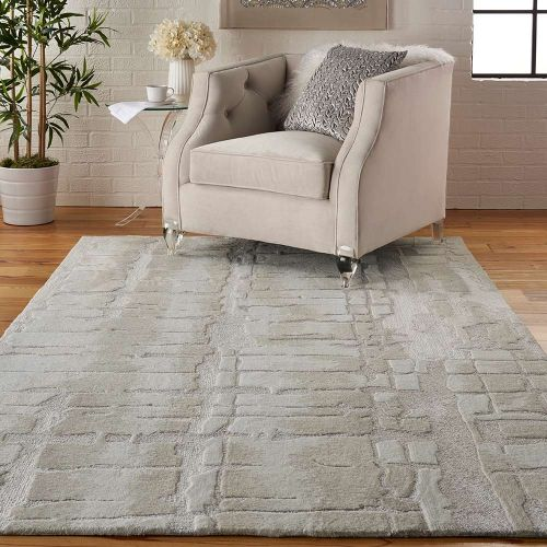 Abstract Symmetry SMM04 Ivory Beige Rug
