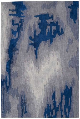 Abstract Symmetry SMM10 Grey Blue Rugs