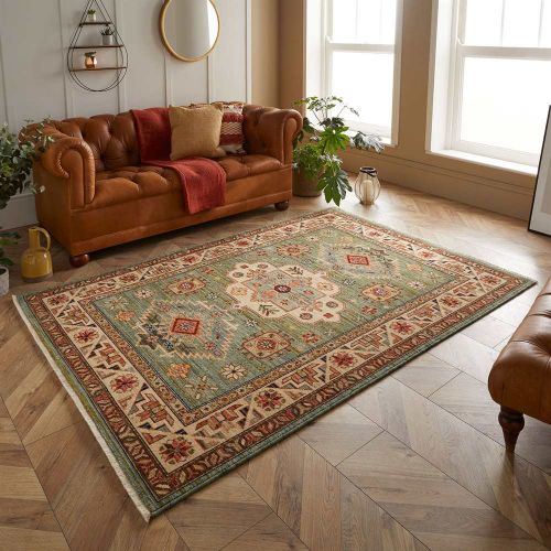 Traditional Green Rug Nomad 532L
