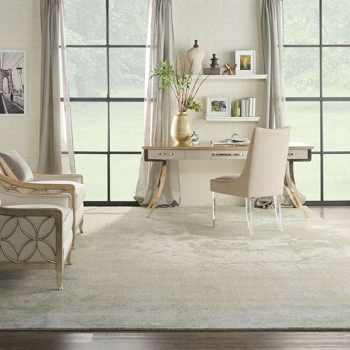 Twilight TWI06 Ivory Green Abstract Rug
