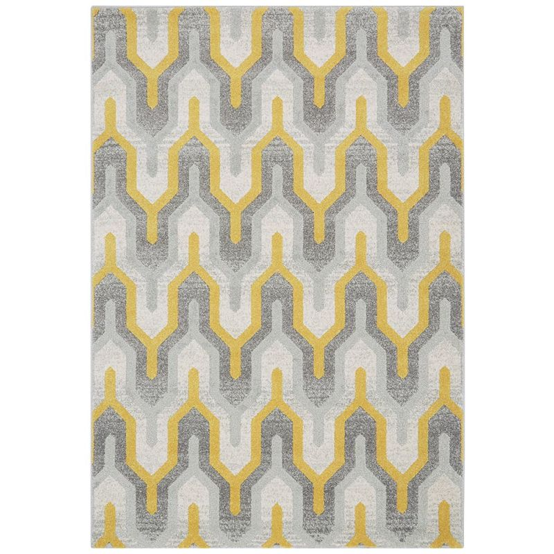 Nova Rug Nv14 Geo Yellow Grey