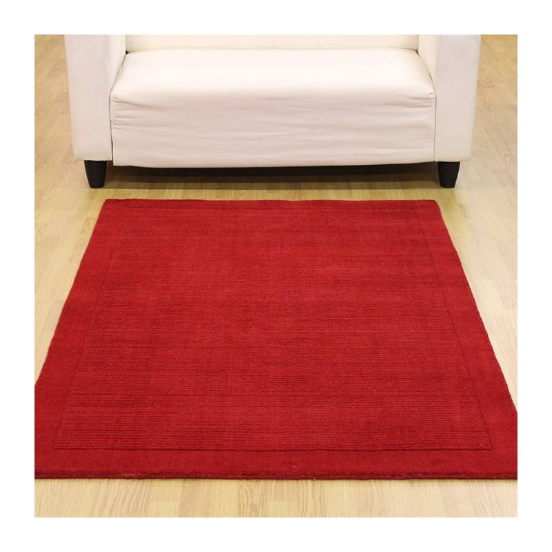 Bright Red Rug Small Medium Large Wool