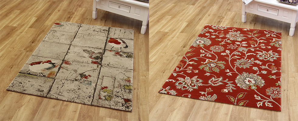 hardwearing polypropylene rugs with on trend paterns