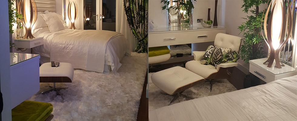 styled room with stunning shaggy rug on the floor