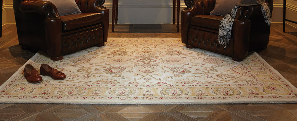 traditional agra twist thick wool rug