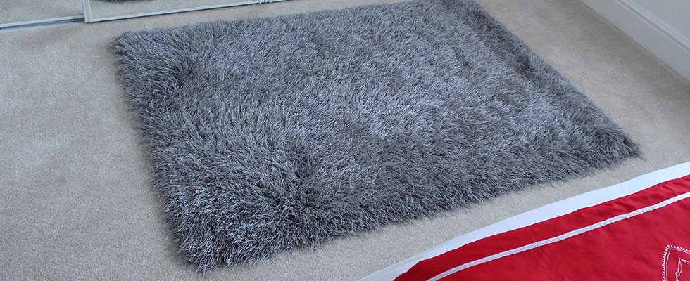 polyester silver shaggy for bedrooms and living areas
