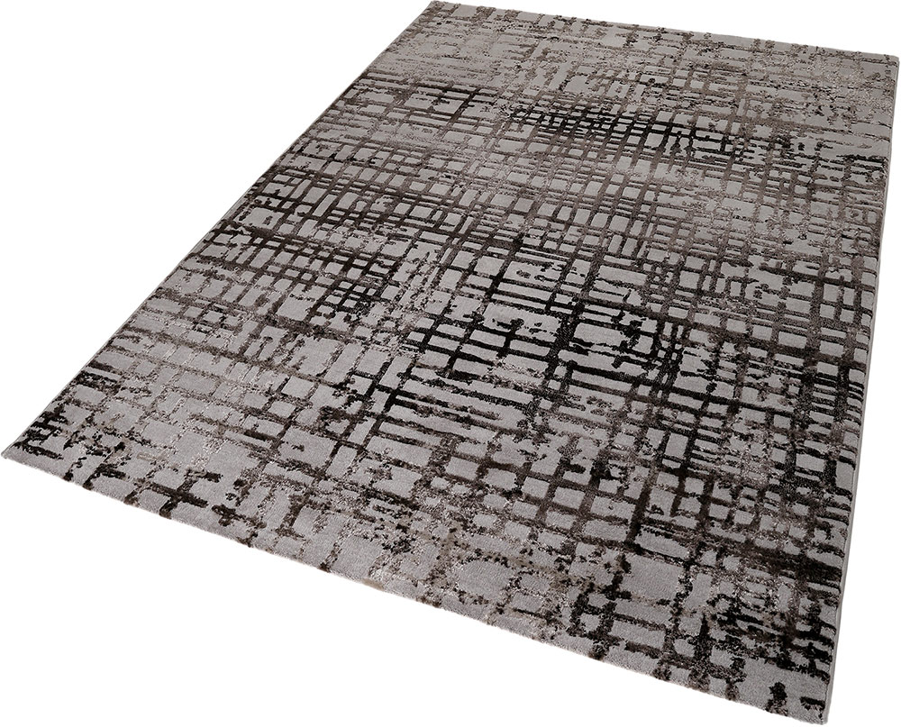 and rugs geometries image white contemporary intertwining black of brown rug