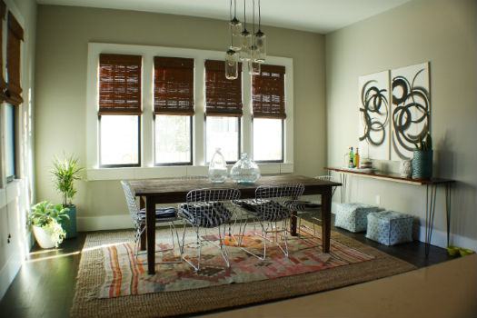 Dining Room Layered Rugs
