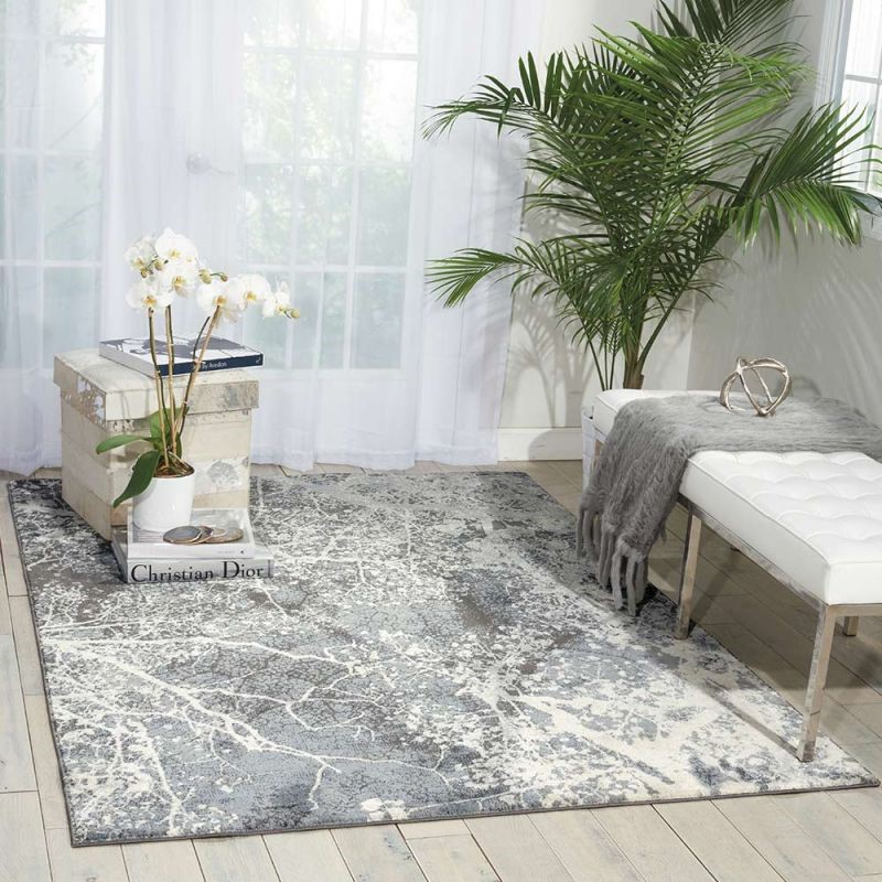 Forest Maxell Rug Grey Scandi Style