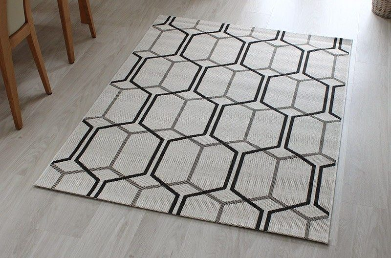 Outdoor Rug Patio Ivory Geo